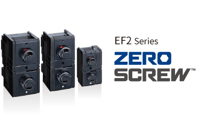 ZERO SCREW terminal block EF2 series