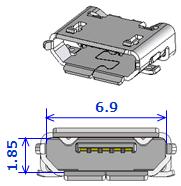 Type-C USB 3D illust