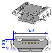Type-C USB 3Dイラスト